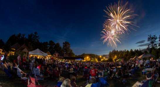 July 4 celebration last night in Cashiers By Jackson County Tourism