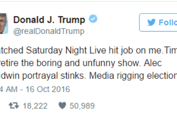 """Now Donald Trump is at War with """"Saturday Night Live"""""""