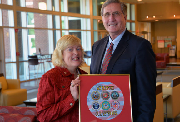 Veterans Council of WNC presents SCC with military seals