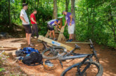 Local mountain biking organization donates benches for WCU trail system