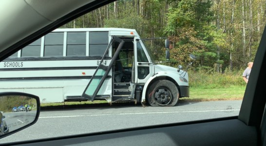 School Bus Crash on 74; No Injuries Reported