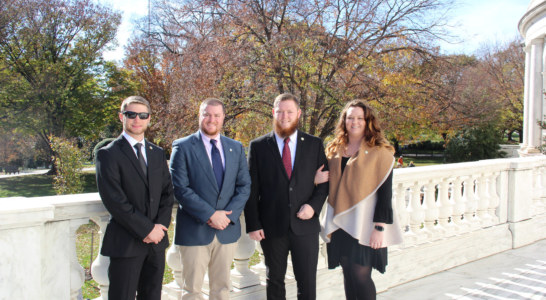 WCU students participate in wreath laying cermony at the Tomb of the Unknown Soldier