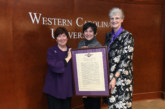 Susan Belcher recognized for her advocacy work with WCU's Trustees' Award